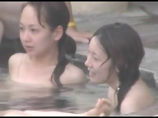 japan public spa young girls..