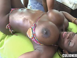 Big titted chocolate chick..