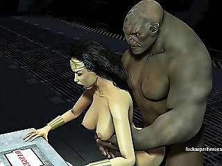 Wonderwoman Fucks Huge Troll..