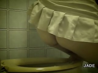 Hairy Asian takes a crap in..
